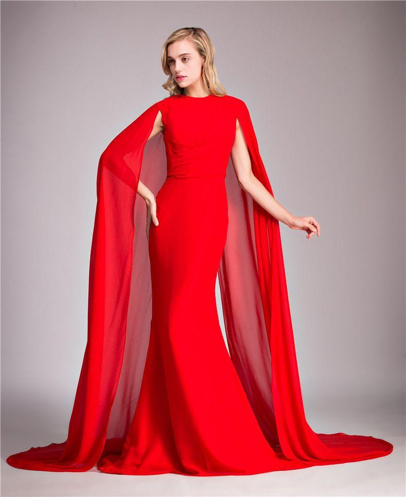 Red Long Evening Dress