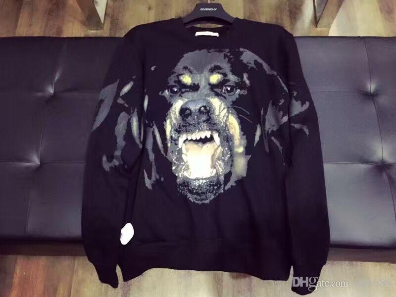 2016 Autumn and winter men hoodies Dog head sweater men's Long sleeve casual sweatshirt sports hoody Men Hooded Sweatshirt Men's clothes
