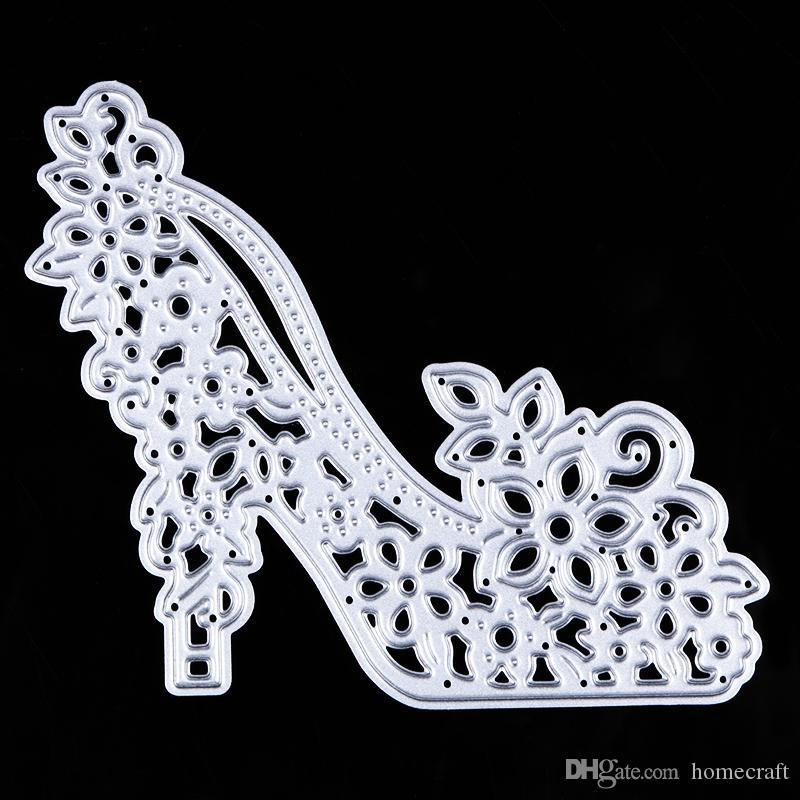 Туфли на высоком каблуке резки металла умирает трафареты для DIY скрапбукинг / фотоальбом декоративные тиснения DIY бумаги карты