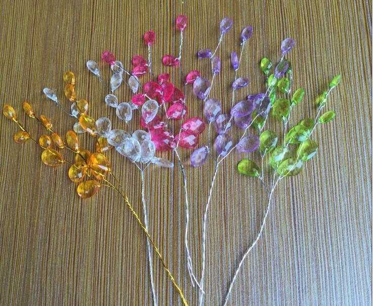 15cm Crystals Garland For Bouquets Wedding Brida Hair Venue Decoration New