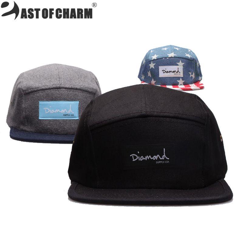 1e8b216c607fb Wholesale 20 Style Diamond Five 5 Panel Snapback Caps Fashion Hip Hop Cap  Flat Hats For Men Casquette Gorras Planas Bone Aba Reta Toca Richardson Caps  ...