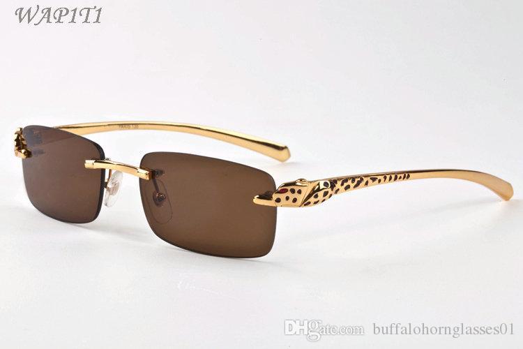 cuerno de búfalo de moda para hombre vidrios de los vidrios claros de la lente 2020 mujeres marcos leopardo del deporte para hombre gafas de sol de la pantera con las lunetas cajas de gafas