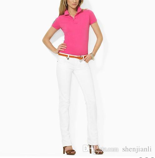 Venta al por mayor envío gratuito 2016 Hot 100% auténtica mujer marca polos Moda polos casual camisa de manga para mujeres polos es S-XL