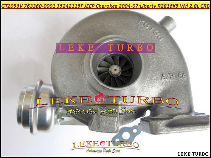 GT2056V 763360 763360-5001S 763360-0001 35242115F Turbo Turbocharger For Jeep Cherokee 2.8L CRD 2004-07 Liberty 2004 150HP 163HP R2816K5 VM (6)