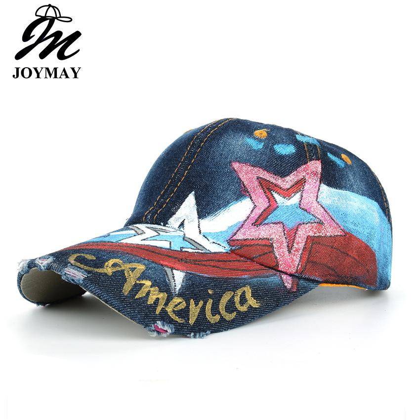 JOYMAY Cowboy Baseball Caps For Man And Women Hand Painted AMERICAN  Pentagonal Color Stripes Washed High Quality Sports Leisure Hats B478 Ball  Cap Wholesale ... e089a821f818