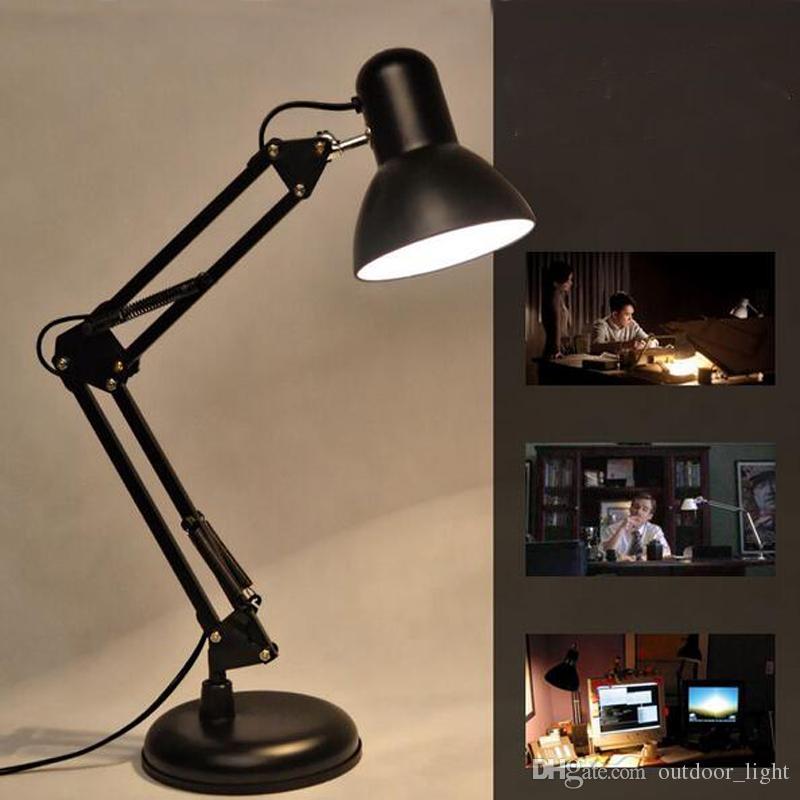 2019 Led Table Lamp Iron Morden American Foldable Long Arm Desk Lamp