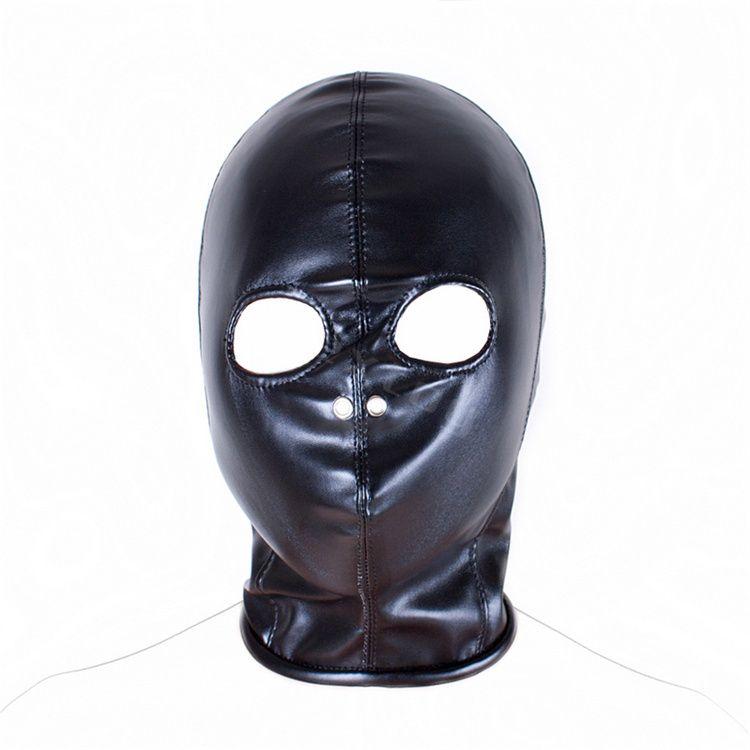 Masque ouvert de fétiche de capot d'oeil, produits de sexe de contraintes d'adultes de jeu de tête de cuir d'unité centrale