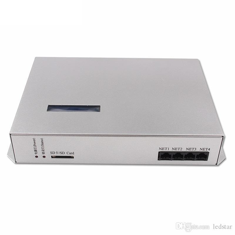 T-300K T300K SD Kart çevrimiçi VIA PC RGB Tam renkli led piksel modülü kontrolörü 8 port 8192 piksel ws2811 ws2801 ws2812b led şerit