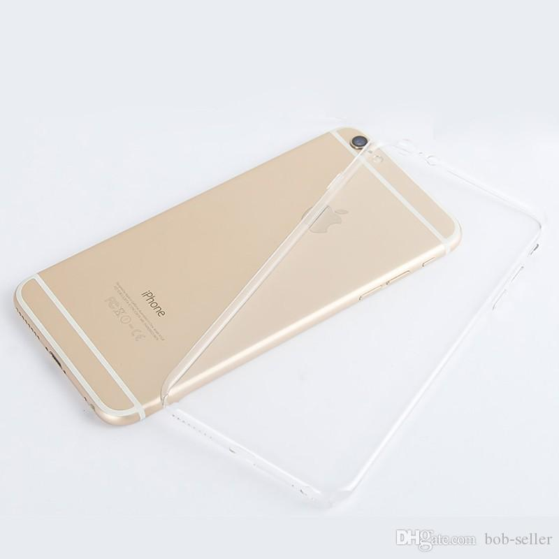 IPhone 6 S için 4.7 inç Artı 5.5 inç TPU Yumuşak Kılıf Kapak Koruyun Kristal Temizle Şeffaf Silikon Ultra Ince Ince cep telefonu kılıfları