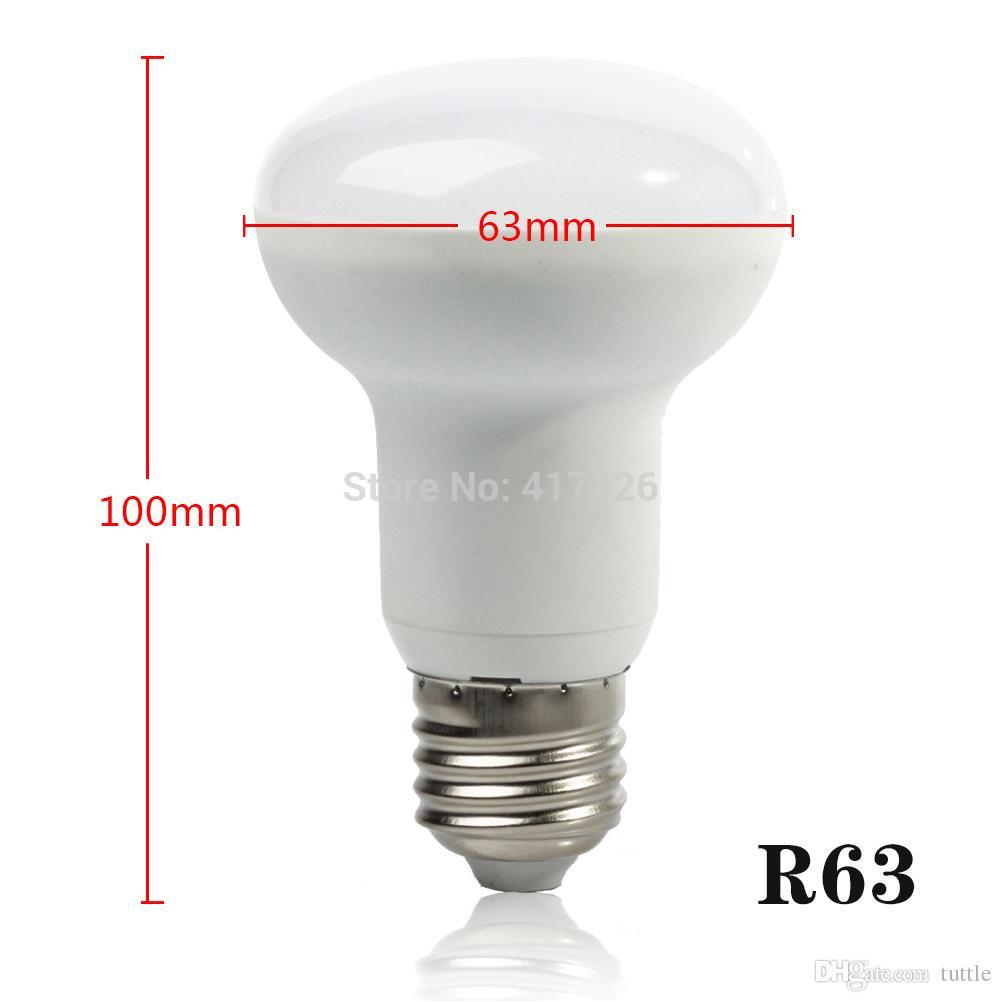 DHL LED R63 7W R80 10W R90 14W E27 führte Scheinwerferglühlampe SMD2835 Regenschirmlampe geführtes 180 Winkel Wechselstrom 85-265V