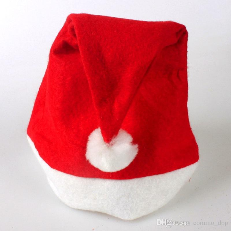Neue Ankunft Vliesstoffe Weihnachten Red Caps Winter Weihnachtsmann Hüte für KinderErwachsene Weihnachtsfeier Geschenk Dekorationen Günstige Großhandel