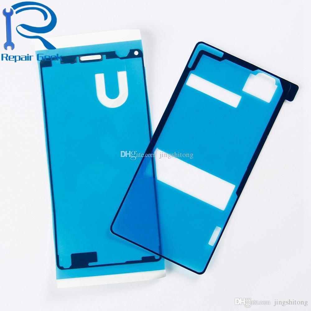 Nueva cubierta de la contraportada Pegatina adhesiva de la puerta de la batería Pegamento para Sony Xperia Z1 Z1 Compacto Z3 Compacto Z Ultra piezas de repuesto