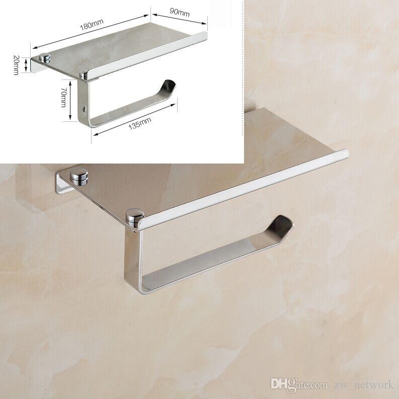 Creative Toliet Porte-papier Salle de bain multifonctionnelle Organisateur de matériel Porte-rouleau de papier toilette en acier inoxydable