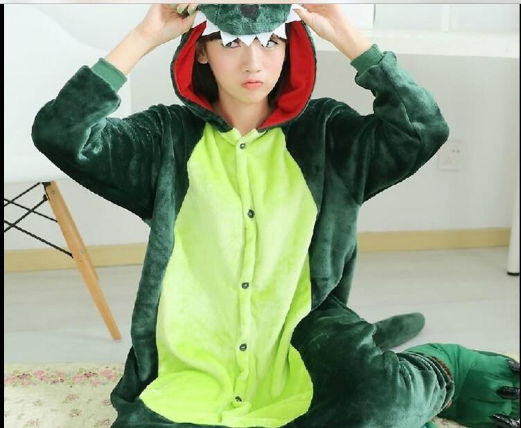 dded50feda98 2019 New Hot Sale Lovely Cheap Kigurumi Pajamas Anime Cosplay Costume  Unisex Adult Onesie Green Dinosaur Dress Sleepwear Halloween S M L XL From  ...