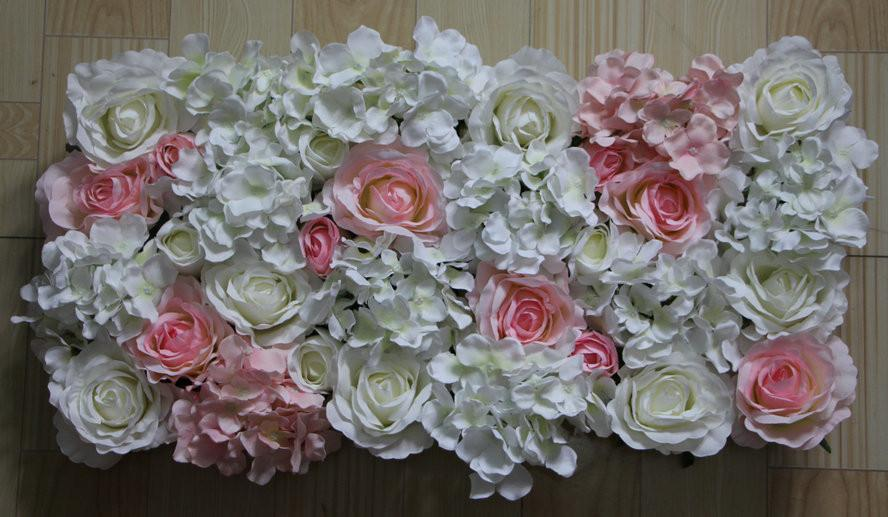 HOT! white light pink Artificial silk rose flower wall wedding background lawn/pillar road lead market decoration