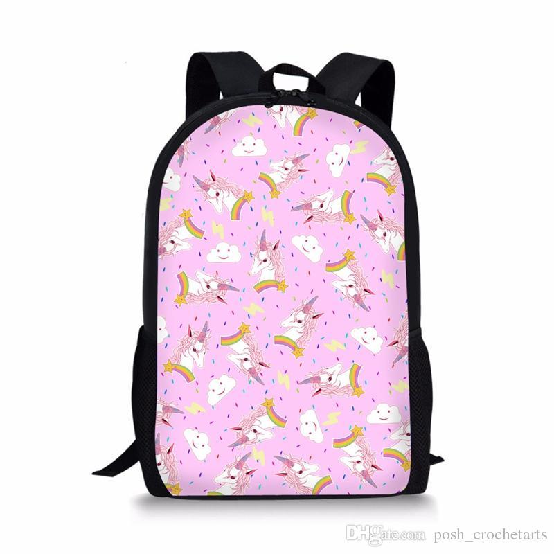 037d43a55b8 Unicorn Backpacks for School Kids Magical Unicornio Bag Rainbow Unicorn  Prints Mochila Infantil Schoolbag for Teens Backpacks Unicorn Backpacks  Mochila ...