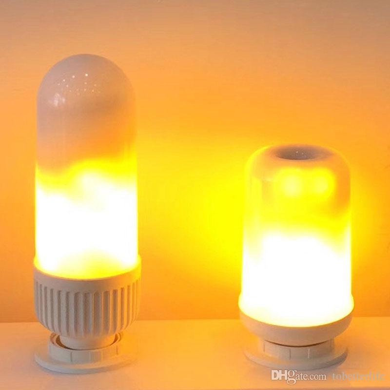 E27 4w Flickering Émulation Lampe Lampes De 300lm Blanc Décoration Feu Chaud Led Effet 99led Ampoule Flamme Lumières vmOy0wPN8n