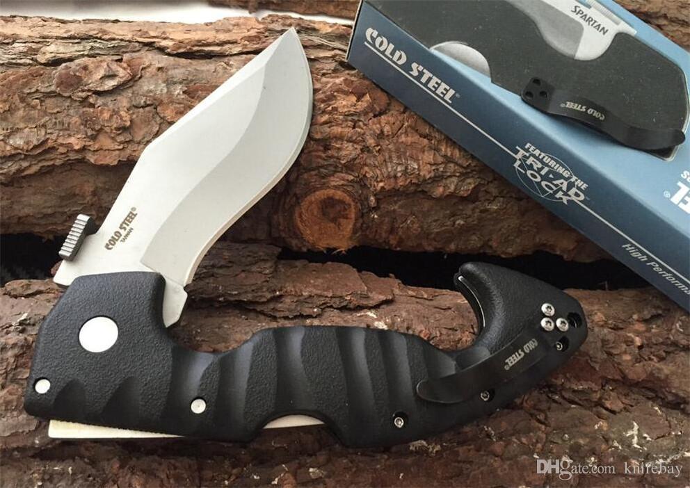 Promoção! facas de aço frio Spartan faca dobrável Aus-8 Lâmina Grivory Handle alta qualidade faca dobrável