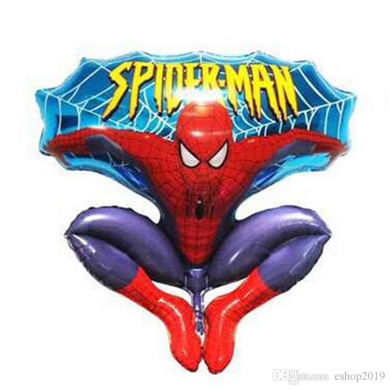 2016 nuovo alluminio felice spiderman palloncino rosso la festa di compleanno di compleanno forniture decorazione cartoni animati stagnola ballon