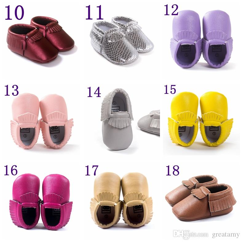 2016 New Style Newborn Baby Infant Toddler Kids Prewalker Suede Shoes Baby Moccasins Soft Moccs Soft Soled Anti-slip Footwear