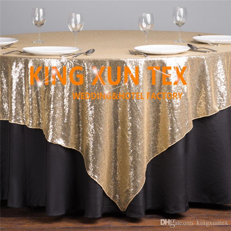 Prix de gros Sequin Table Overlay \ Pas cher paillettes de mariage Table Cloth For Party et événement Décoration Livraison gratuite