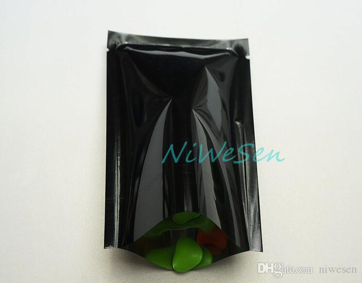10X15CM, /pack x black aluminized mylar flat bag-heat seal plain pouch, Fuchsia aluminum foil food packaging pocket