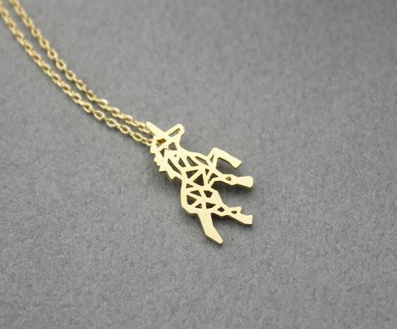 Vente chaude hippie chic évider le collier pendentif cheval Bohème mode femmes Neclaces 2016 ms mince collier festival meilleur cadeau
