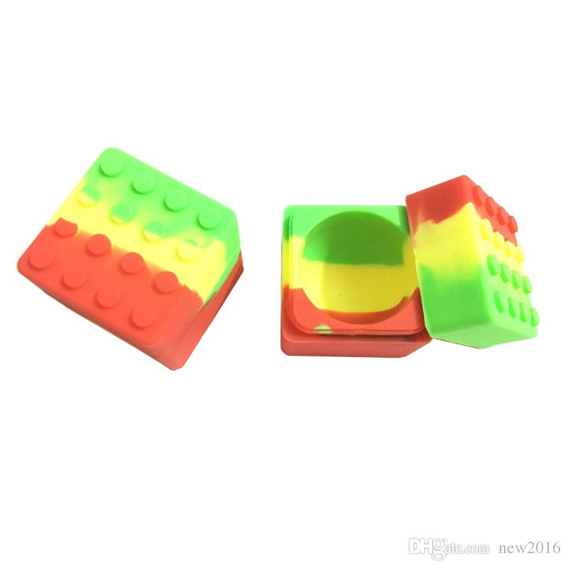 60 Ml Stackable Wax Dab Oil Jars Square Large Non Stick Silicone Storage Containers