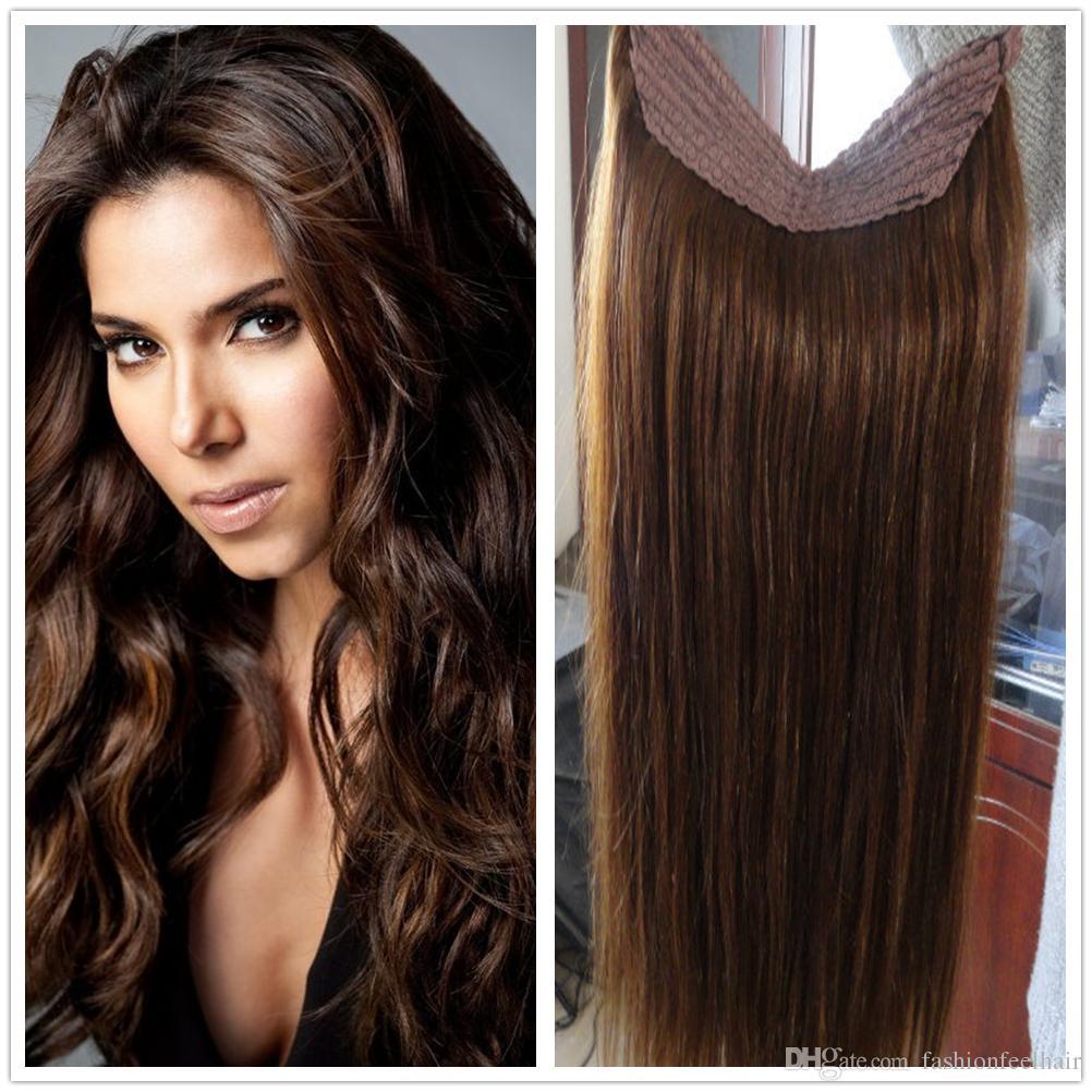 2014 New Hot Hair 5a Flip In Humann Hair Halo Hair Extension No