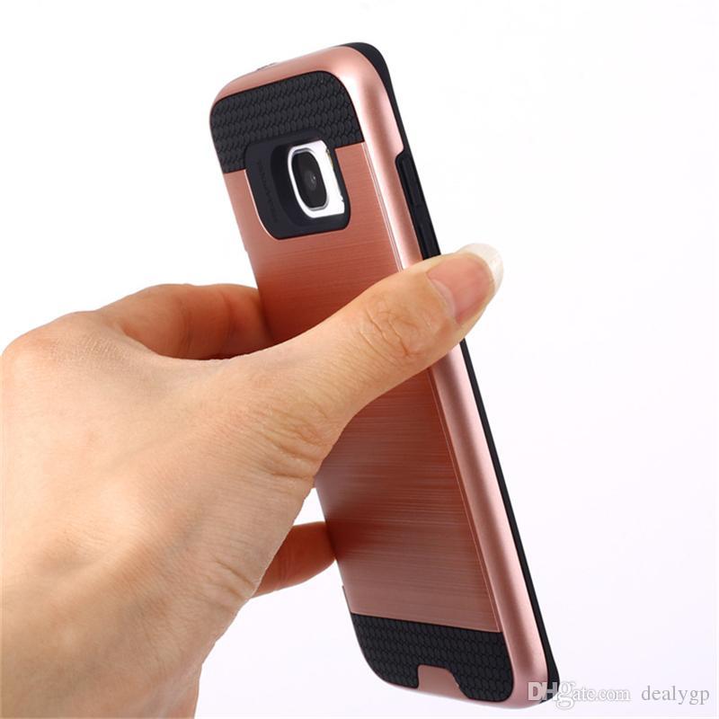 Fabrik preis handy kreditkarteninhaber fall mit slide card slot für samsung galaxy on5 on7 note6