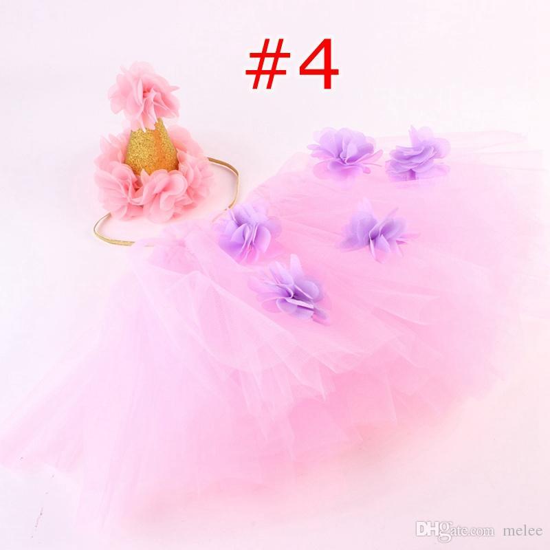 ins infant tutu skirts baby girls crown headbands + newborn flower tulle tutus skirt and tops sets newborn photography props pettiskirts