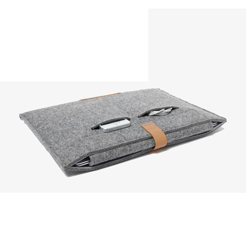"11.6 13.3 15.4 inch Wool Felt Notebook Laptop Sleeve Bag Case For Apple Macbook Air/Pro/Retina 11 13 15"" Laptop Bag Cover Case"