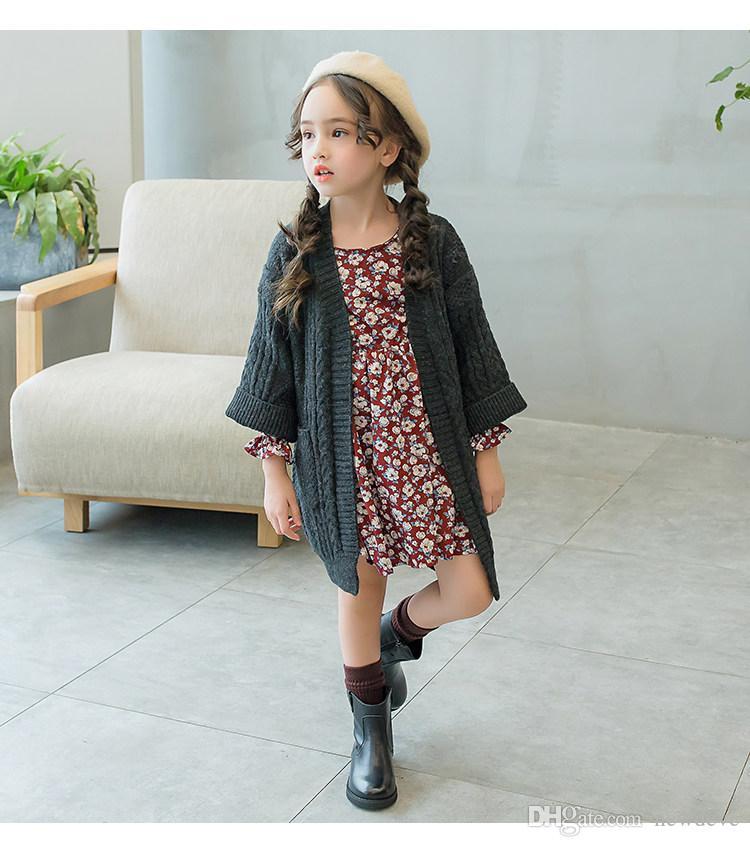 Schöne Runde Zehe Schwarz Kaffee Farbe Kinder Schuhe Auf Lager Leder Mädchen Stiefel Kinder Formal Wear