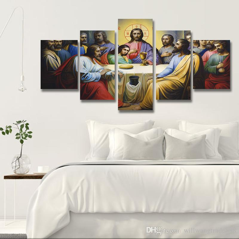 2018 Unframed Spray Printed Oil Painting Christian The Last Supper Wall Decor Art On Canvas From Willwangtrade888 724