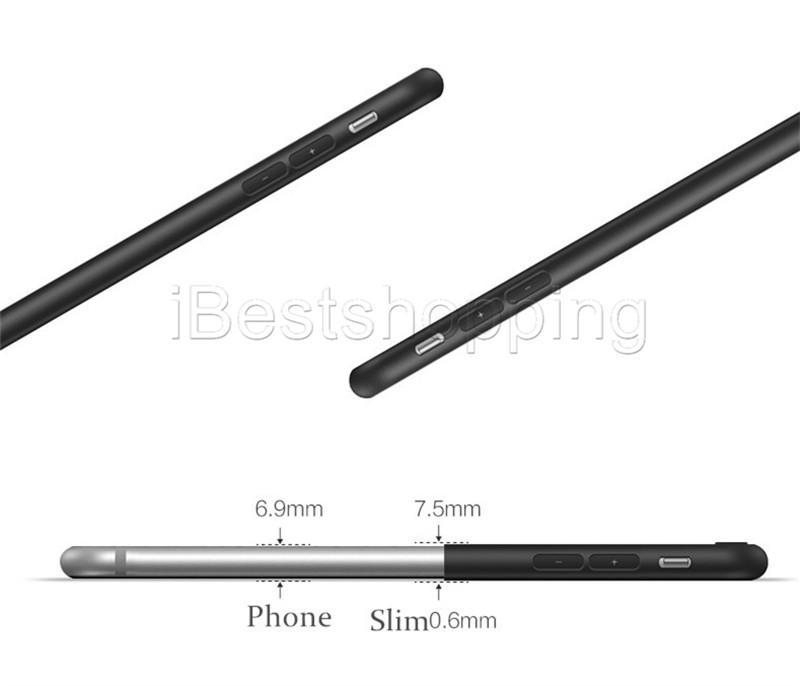 Slim souple TPU Housse en silicone Matte Phone Cases Shell avec Dust Cap pour iPhone 11 Pro Max X Xr X Max 8 7 6 6S plus
