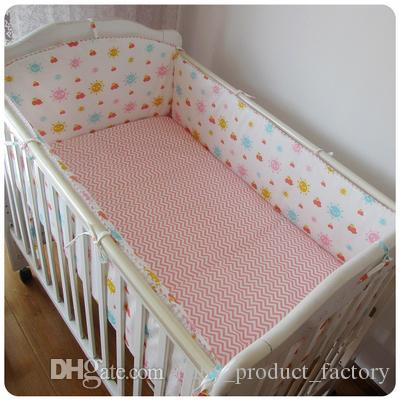 Promotion! Crib Baby bedding set baby bed set Children bumpers+sheet+pillow cover