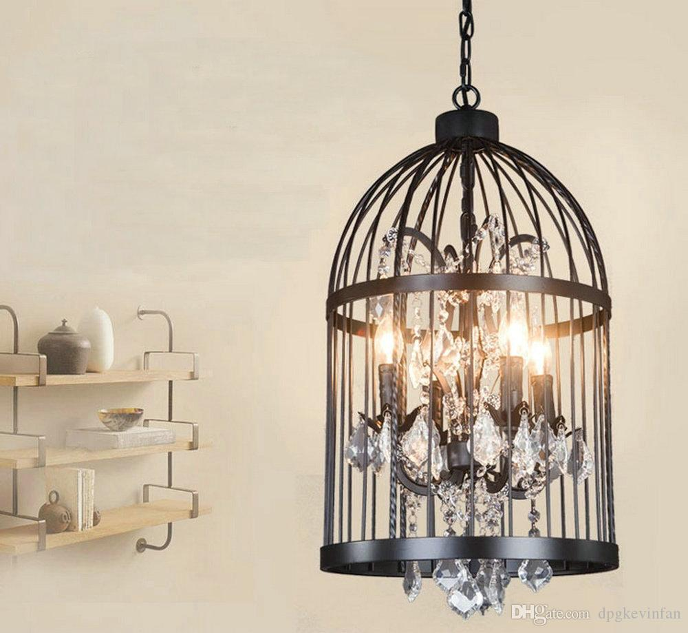 Canary Rust Ceiling Lamp Rinee Cage Chandelier