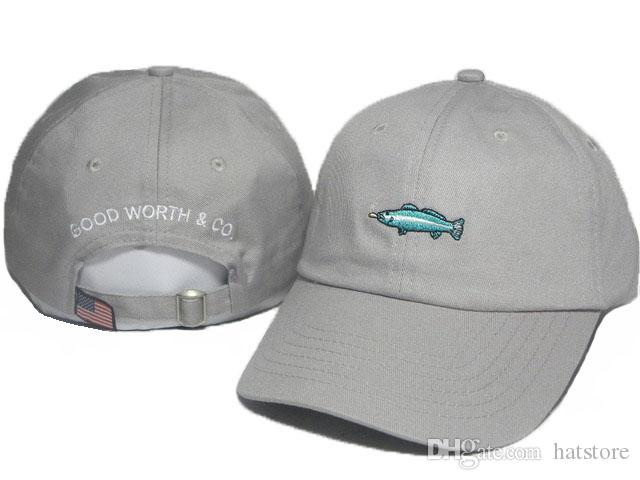 81e65caf33f Grey Cheap Cotton Summer GOOD WORTH   CO. Fish Hats For Men Cool ...