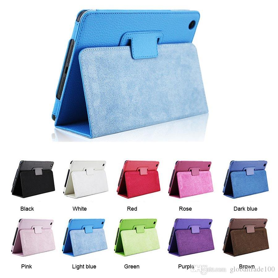 Apple ipad Mini 1 2 3 mini 4 Custodia Magnetic Auto sveglia / Sleep Flip PU Custodia in pelle con supporto Smart Stand