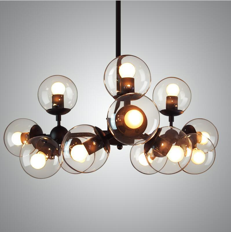 Gentil Vintage Glass Chandeliers Modo Dna Iron Pendant Light 4/8/12/16 Heads  Dining Room Pendant Lamp Industry Lighting Fixture 110v 240v V030 Pendant  Kitchen ...