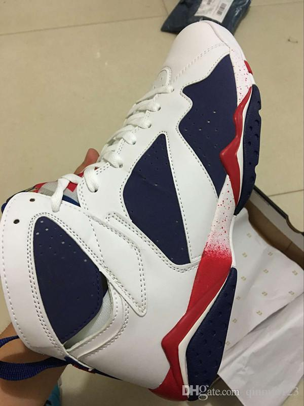 b059ed2787a5 With Box 7 Olympic Tinker Alternate Blue White 7s Men Basketball Shoes TOP  Quality Sports Shoes Size 5.5 13 Sport Shoes Mens Sneakers From Qinmin123