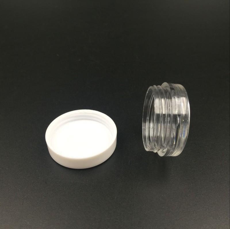 transparente redonda pote de crema 3ML frascos contenedores olla clara contenedor de muestras de plástico blanco 3G Top recorrido libre del envío para el almacenamiento de arte de uñas