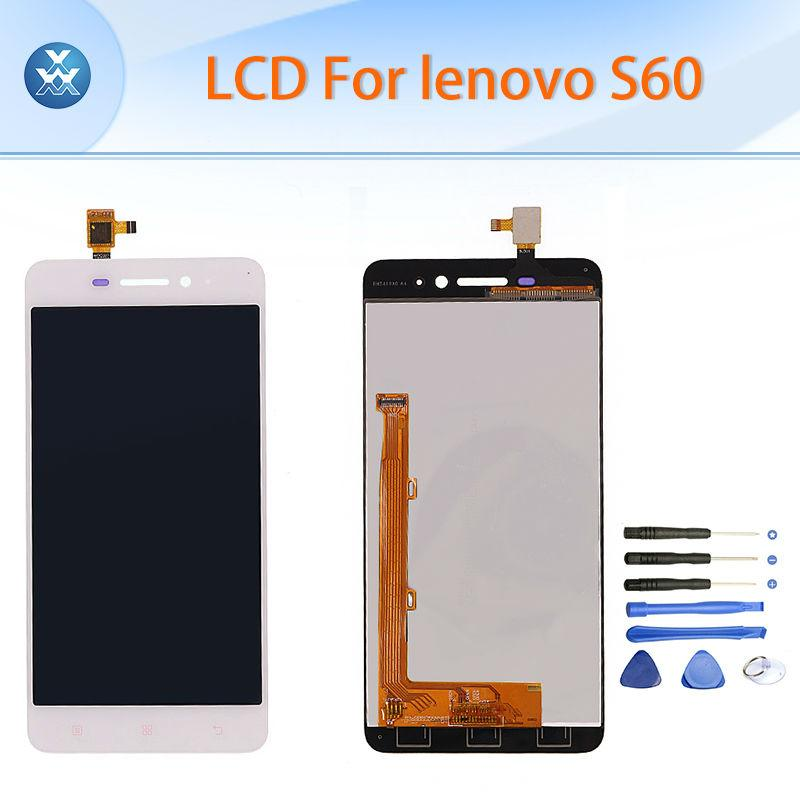 49ac83201b070c Wholesale- Black white LCD screen for Lenovo S60 LCD display touch screen  digitizer complete assembly full pantalla repair phone parts+tool