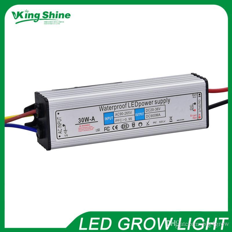 Hohe Qualität 30W Netzteil für COB LED-Chip. AC85-264V, 0.900A, 30-36V wasserdicht 50000 Stunden Lebensdauer 2 Jahre Garantie kostenloser Versand