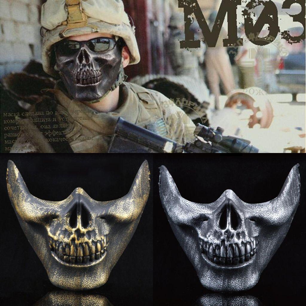Cool Men Skeleton Warrior Masks Halloween Party Masquerade Masks ...