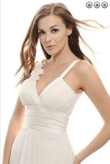 ivory white chiffon Evening Dresses robe de soiree longue 2017 handmade flower prom sweetheart Evening Gowns Celebrity dress