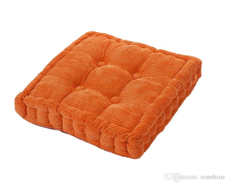 Обновление площади полиэстер заполнены крытый открытый стул Pad подушка для домашнего офиса обеденный стул, сплошной цвет 15,7 x 15,7 дюйма, Coduroy крышка