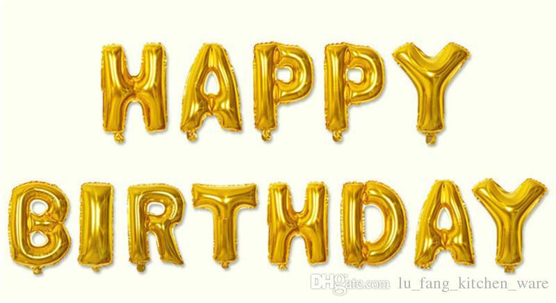 Happy Birthday Alphabet Air Balloons Birthday Party Decoration