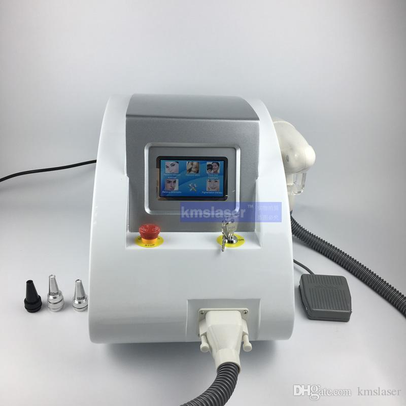 Portable Q swtich nd yag laser retrait de tatouage machine de salon de beauté 1320nm 1064nm 532nm
