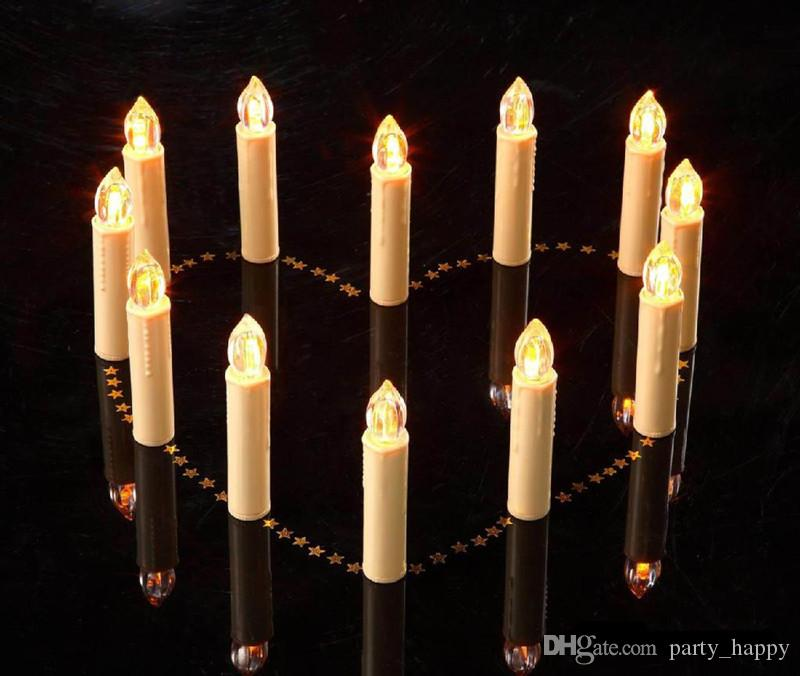 Warm White Birthday Supply 2016 Christmas Wedding Tree Remote Control LED Candle Light Creative Process Led Electronic Rod Candles